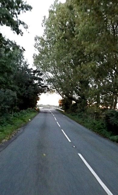Approaching Red Bridge on the B1118
