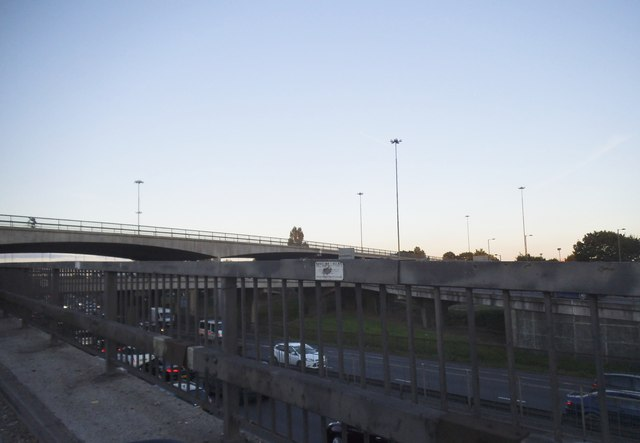 The sliproad to Brent Cross flyover