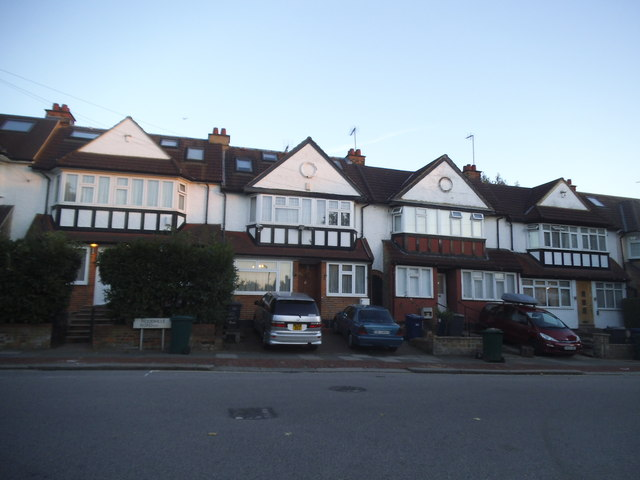 Houses on Woodville Road, Golders Green