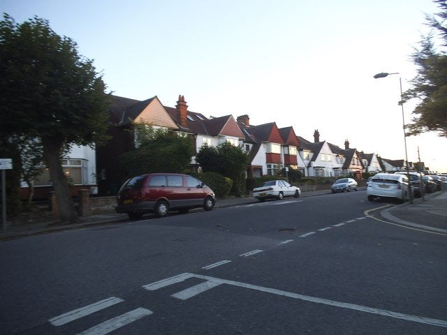 Woodstock Road at the junction of The Drive
