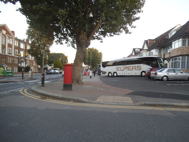 Golders Green Road at the junction of Woodstock Road