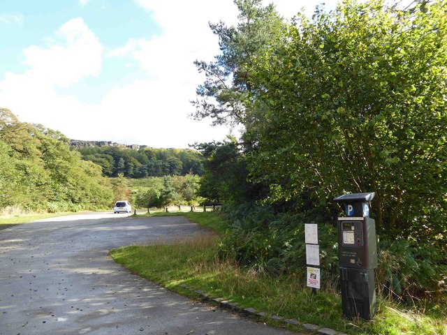 Pay and display car park for Stanage Edge