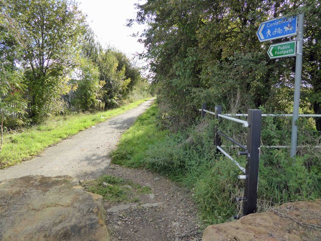 The start of the trail to Conisbrough