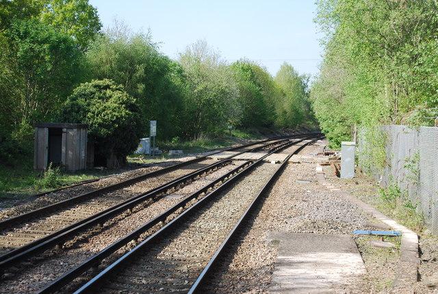 Crossing just north of Ockley Station
