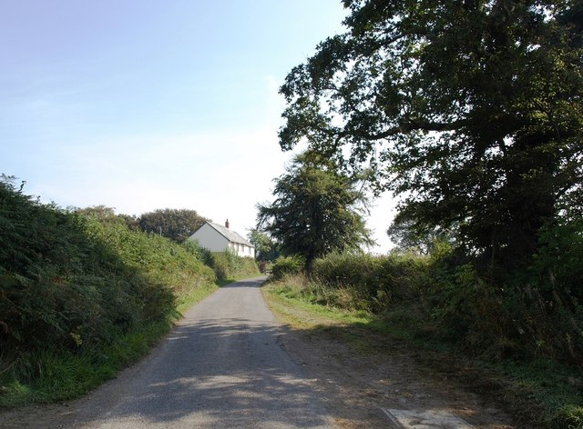 Minor road between Aller and Combsland Cross