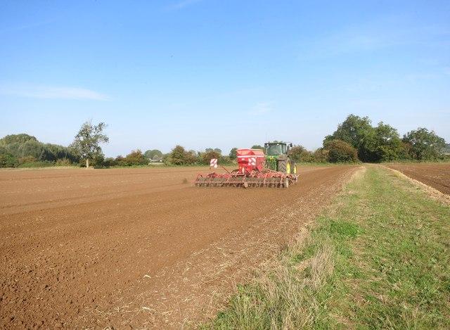 Tractor working near Duxford