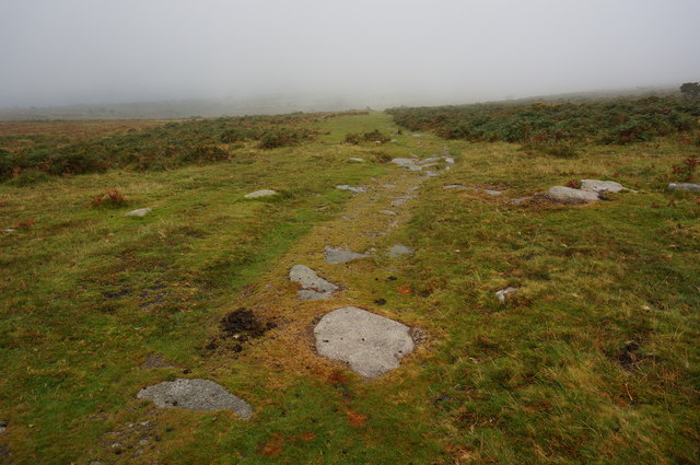 Path leading to the dismantled Princetown Railway