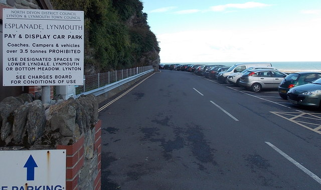 Esplanade Car Park in Lynmouth