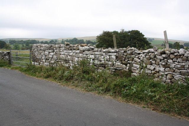 Dry stone wall on NE side of Townhead Lane