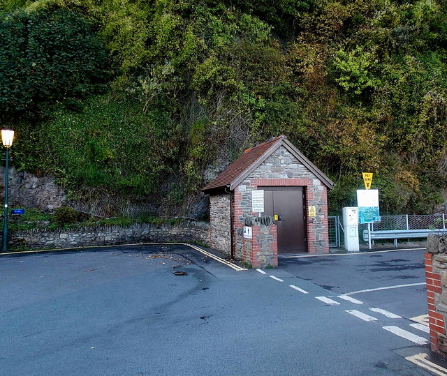 Esplanade electricity substation in Lynmouth