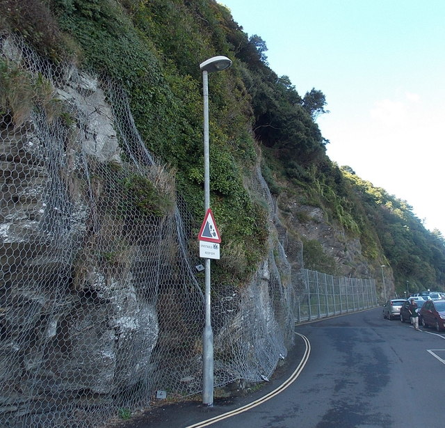 Unstable cliff side in Lynmouth