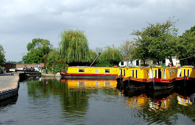 Hire boats at Gailey, Staffordshire