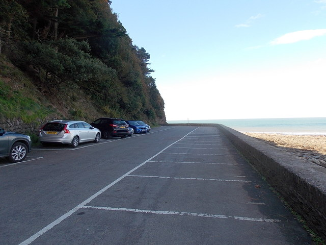 Towards the NW end of Esplanade Car Park in Lynmouth