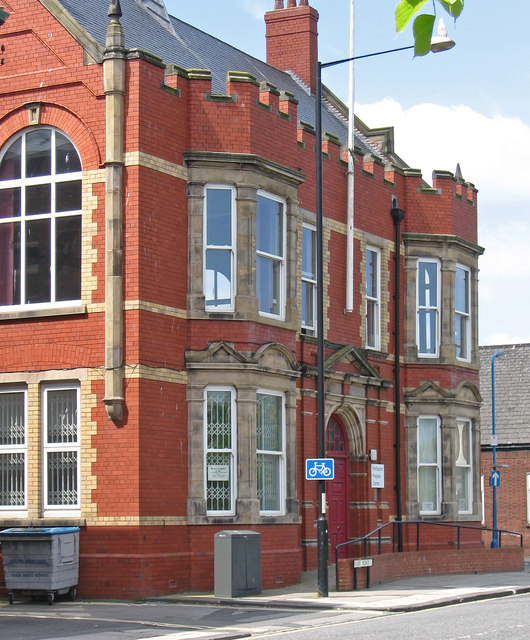 Hartlepool - public buildings on west side of Raby Road