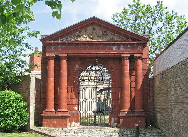 Hartlepool - ornamental gate on Raby Road