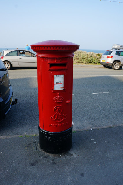 Edward VII postbox on The Parade, Llandudno