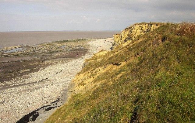 Cliffs west of Kilve Pill