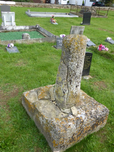Stone cross base