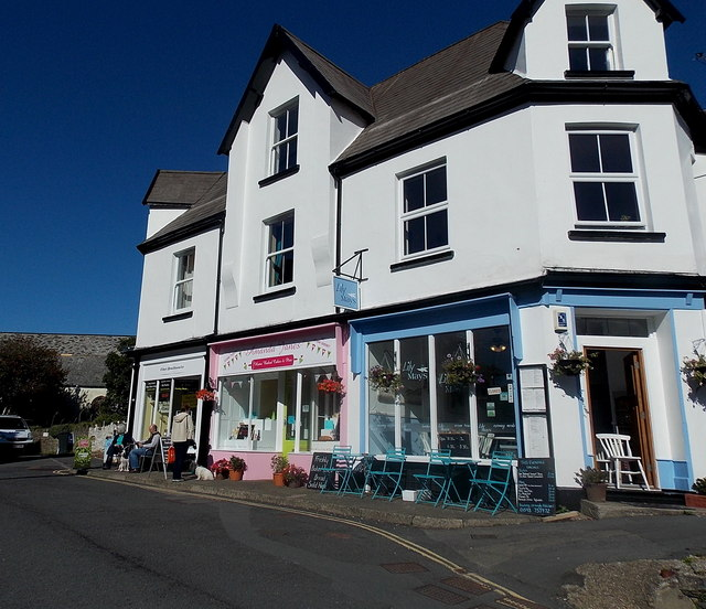 Three Castle Hill shops in Lynton
