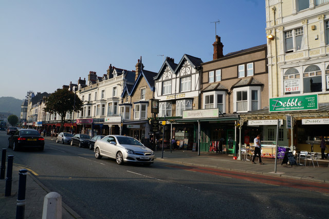 Businesses on Mostyn Street, Llandudno