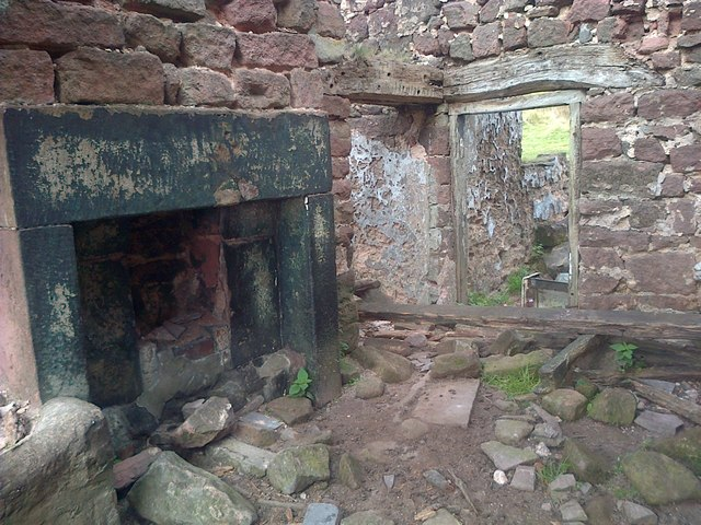 Interior of Ruined Cottage
