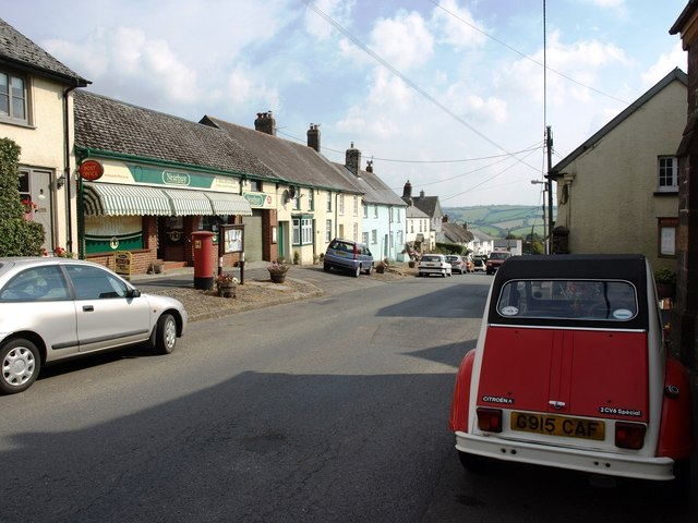 Western end of East Street, North Molton