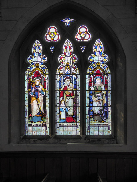 Stained Glass Window, St Michael's Church, Fore Street, Beer, Devon