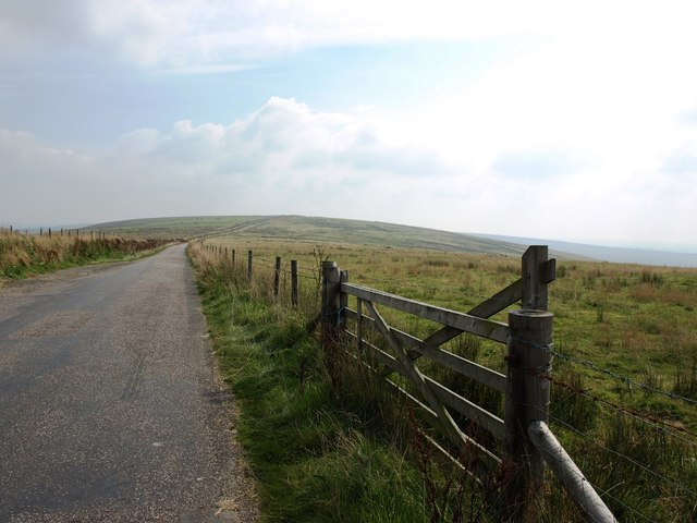 Road to Sandygate from Five Barrows Cross