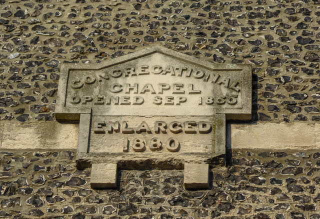 Date Stone for Congregational Chapel, Fore Street, Beer, Devon