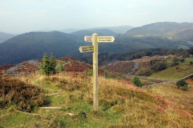 Signpost on the Precipice Walk