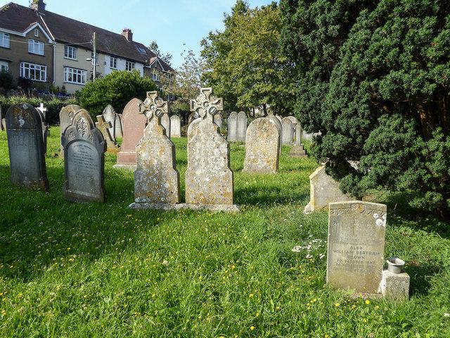 Graveyard at Old Church,  Beer, Devon