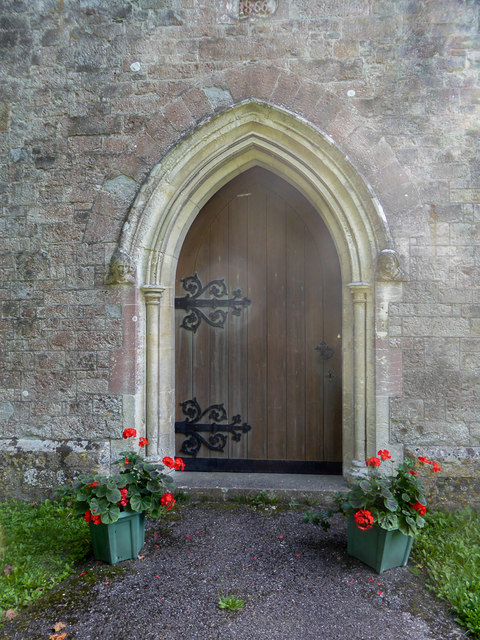 Entrance to The Old Church,  Beer, Devon