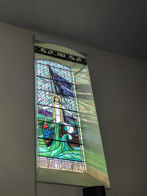 Stained Glass Window, Congretational Chapel, Fore Street,  Beer, Devon