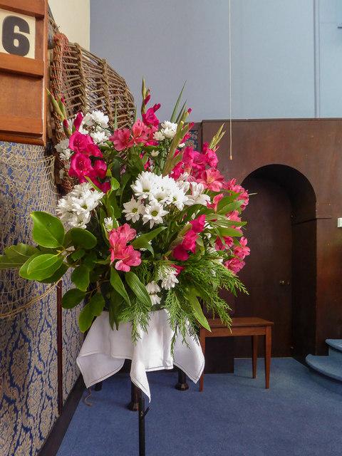 Floral Display Congretational Chapel, Fore Street,  Beer, Devon