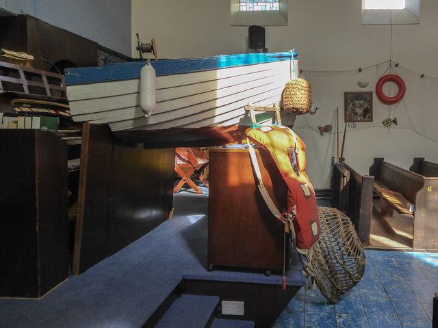 Nautical Display, Congretational Chapel, Fore Street,  Beer, Devon