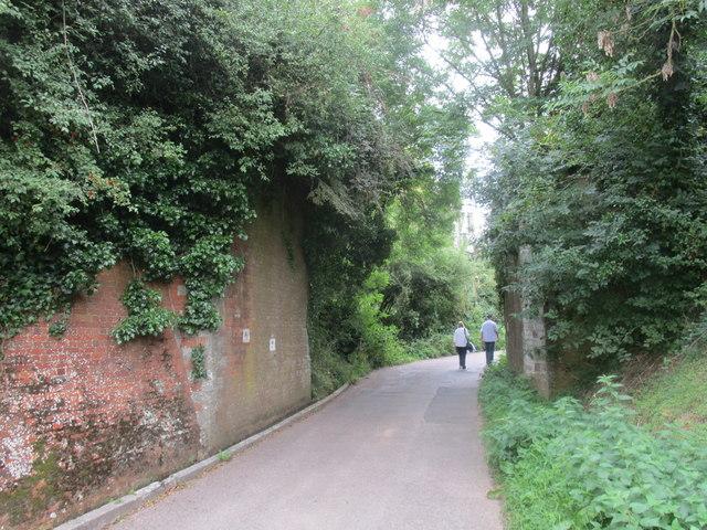 Abutments to former railway bridge