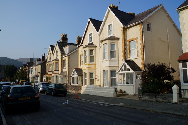 Houses on Caroline Street, Llandudno