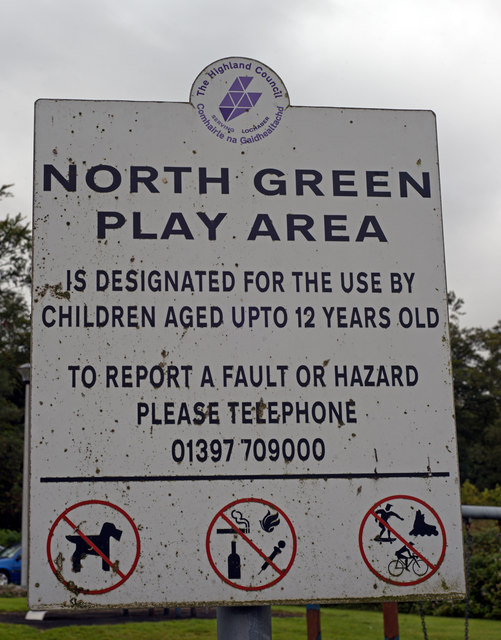 Notice - North Green Play Area, Ardgour