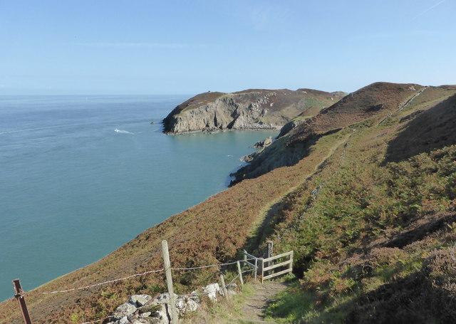 The Coast Path heading towards Porth Llanlleiana