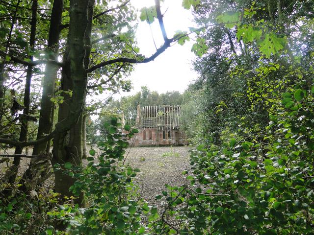 The derelict chapel at Thursford Castle