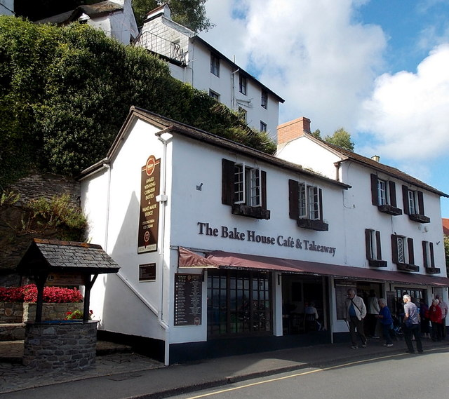 The Bake House Café & Takeaway and a wishing well, Lynmouth