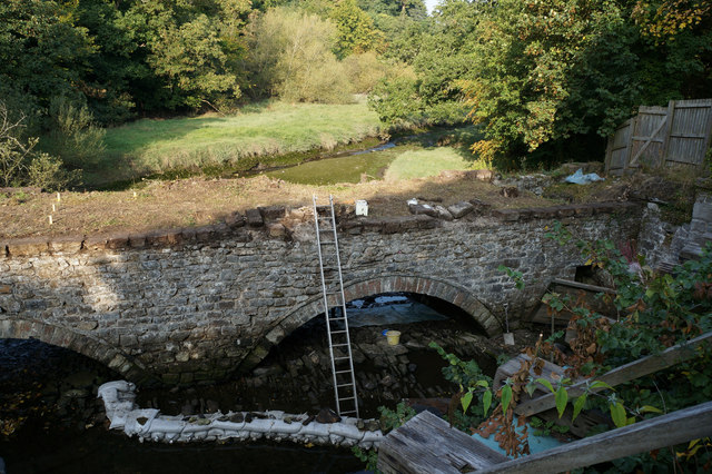 Repairs to a bridge over the Afon Cegin, Bangor