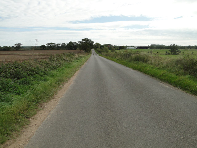 The road past Thursford Common