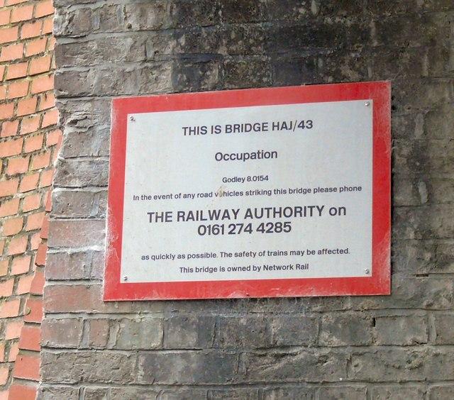 Bridge HAJ/43 Sign