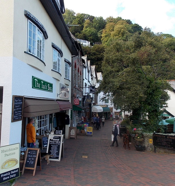 Eastern end of Lynmouth Street, Lynmouth