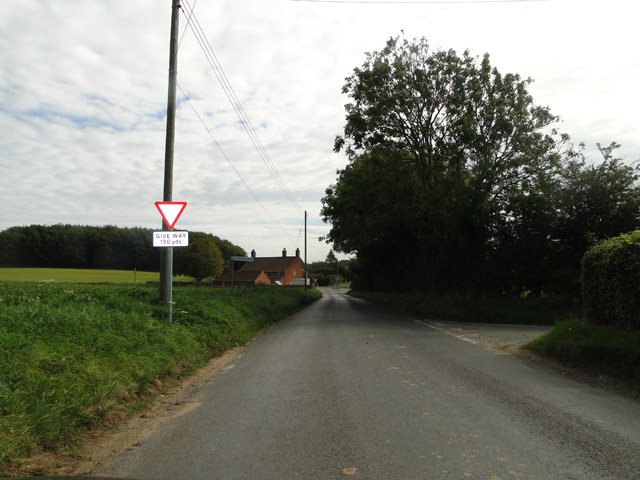 Approaching the A148 from Hindringham
