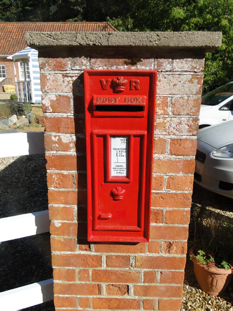 Victorian postbox at Swanton House