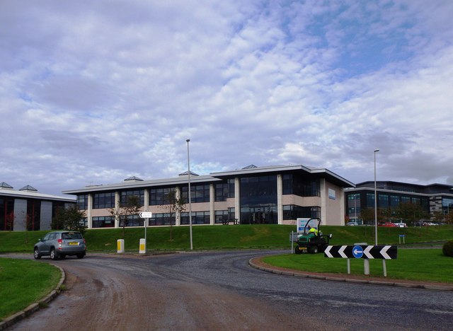 Roundabout access to Arnhall Business Park