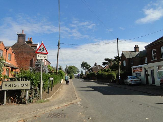 Where Briston starts and Melton Constable ends