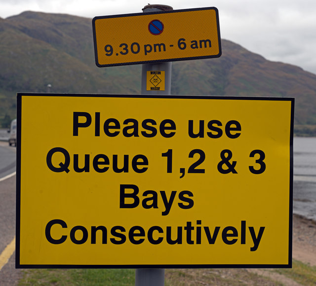 Ferry queue sign - Ardgour (1)